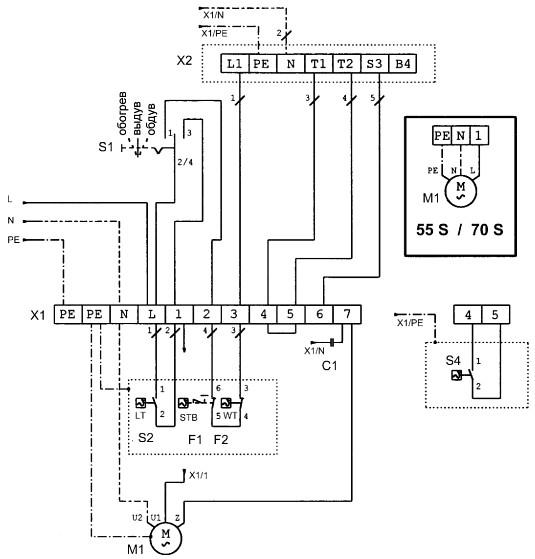 При подключении комнатного термостата удалить перемычки между клеммами 5+6. комнатный термостат. термостат вентилятора.