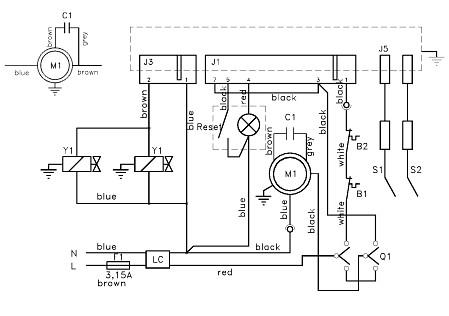 Принципиальная схема тепловой пушки